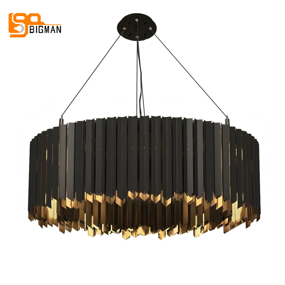 Stainless Steel Modern Chandelier Led Light  Suspention Luminare Dinning Room Living Room Lamp