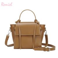 Vintage Fashion Female Tote   bag   2018 New High quality PU Leather Women's Designer Handbag Shoulder Messenger   Bag     Crossbody     bag