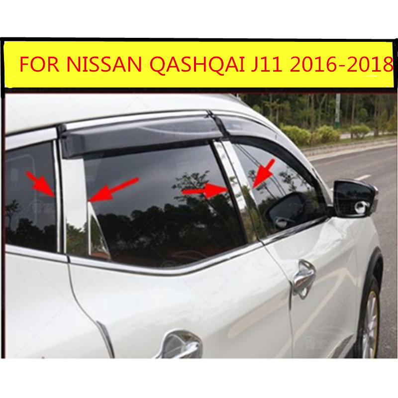 For Nissan Altima 2016 Chrome Window Middle Pillar Posts Cover Trim Decor Accent