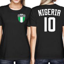 34cc5aba2c3 2019 Hot Sale Fashion Nigeria Soccers Footballer Crest Country Pride Women s  T-Shirt Tee Shirt