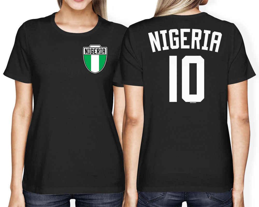 2019 Modo caldo di Vendita Nigeria Calcio Attrezzature Varie Calciatore Crest Paese Orgoglio delle Donne T-Shirt Tee Shirt