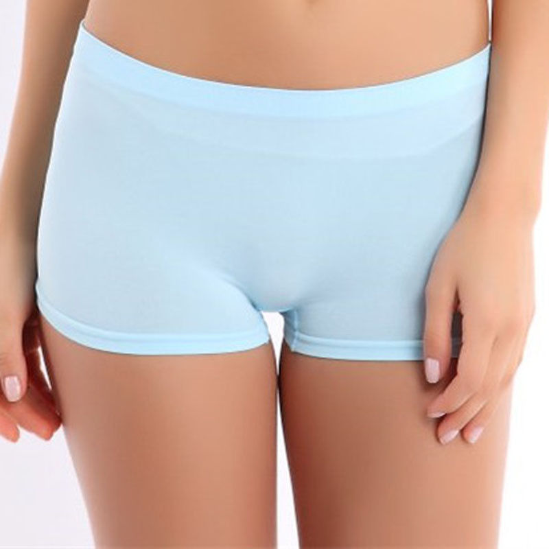 Solid Comfortable Summer Women  Shorts Solid  Workout Waistband Skinny Shorts