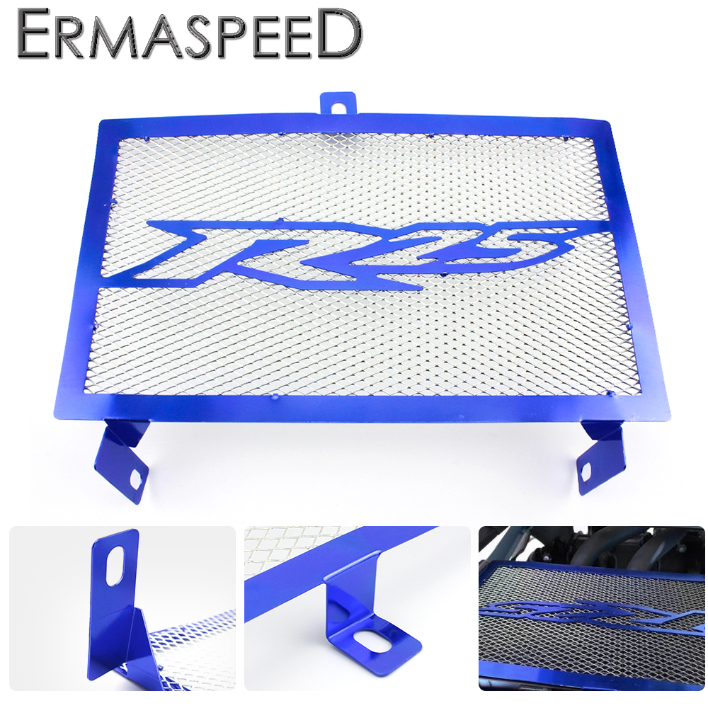 For YAMAHA YZF R25 2015 2016 2017 Motorcycle Stainless Steel Radiator Guard Protector Grill Cover Blue Red black motorcycle accessories radiator guard protector grille grill cover for yamaha yzf r1 yzf r1 2009 2014