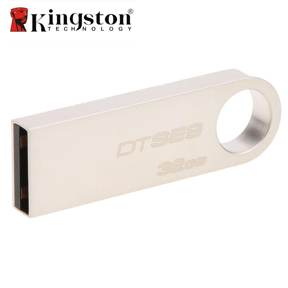 DTSE9 Kingston USB Flash Drive In Metallo Mini Chiave USB del Bastone 8 gb 16 gb 32 gb di Memoria di Archiviazione del Bastone del USB pendrive Flash Pen Drive di Memoria