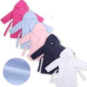 Модные банные халаты для мальчиков, махровый банный халат, детский банный халат для девочек, халат, ночная рубашка из хлопка и полиэстера