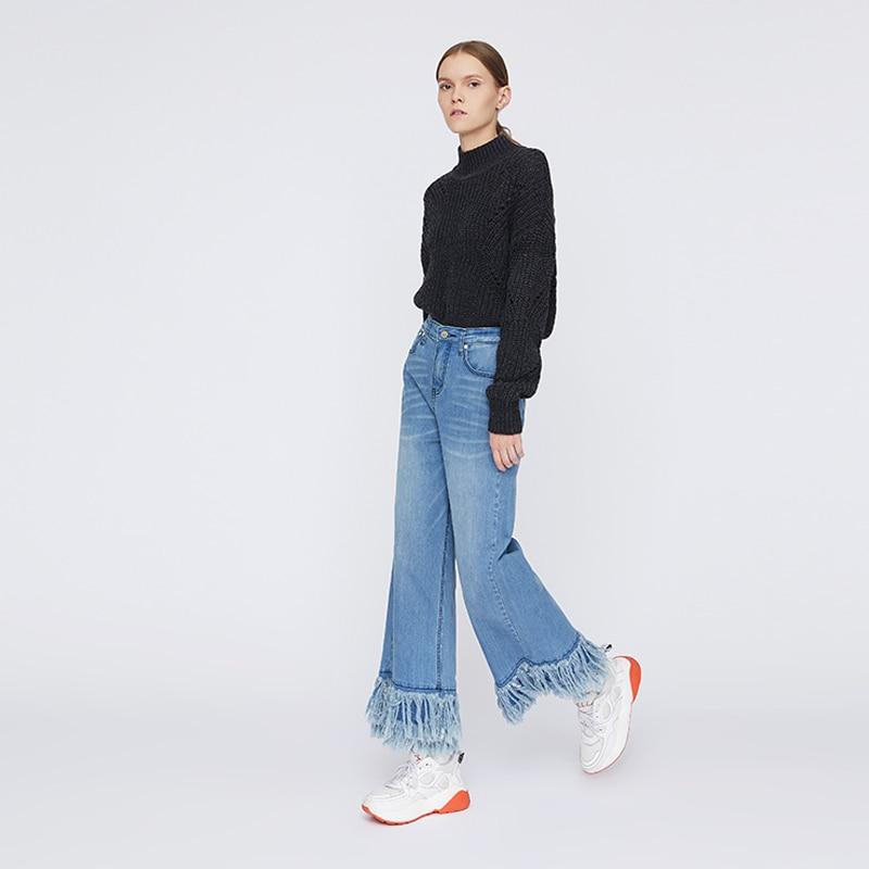 Toyouth ผู้หญิงกางเกงยีนส์ Denim กางเกงขากว้าง Plus ขนาดกางเกงยีนส์สบายๆกางเกงหญิงสีฟ้ากางเกงยีนส์ผู้หญิง Vaqueros Mujer-ใน ยีนส์ จาก เสื้อผ้าสตรี บน   3