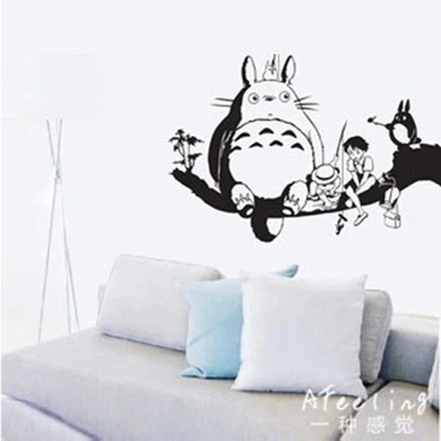 dctal totoro fishing wall sticker japanese cartoon poster decal