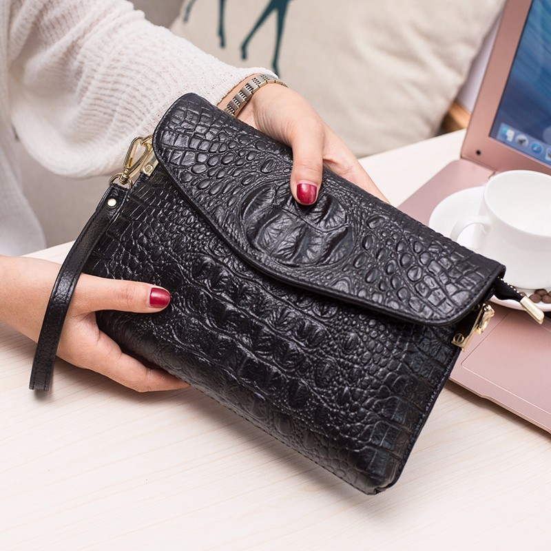 Small Bag Woman 2018 New Pattern Genuine Leather Satchel Korean Woman Package Believe Wrap Grain Single Shoulder Package