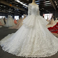 robe de mariee Backless Ball Gown Wedding Dresses Luxurious Beading Sequine Flowers Bridal Dress Half Sleeve Wedding Gown