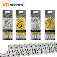 VG Sports Mountain Road Bike 11 Speed Chains MTB 116L Cycling Half/Full Hollow 11S Velocidade Gold Silver Bicycle Parts Chain