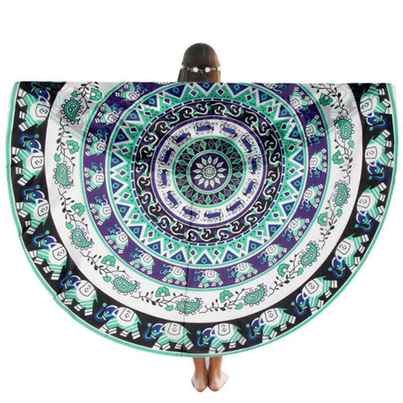 HOMEGD Round Beach Pool Home Shower Towel Blanket Table Cloth Yoga Mat 18Apr7 Drop Ship