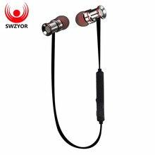 Swzyor S921 Беспроводной Bluetooth Наушники устойчивое спортивные наушники Магнитная поглощения стерео микрофон для Xiaomi аврикула