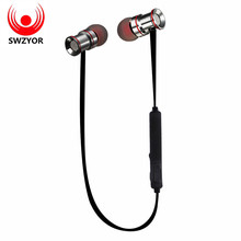 Big sale SWZYOR S921 Wireless Bluetooth Earphones Sweatproof Sports Headphone Magnetic absorption Stereo Microphone for Xiaomi Auricula