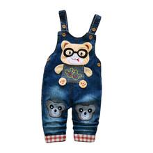 Spodnie dla dzieci wiosna jesień dla dzieci chłopcy dziewczęta kombinezon dla dzieci spodnie dla dzieci spodnie spodnie spodnie spodnie Denim kombinezon spodnie tanie tanio Pełnej długości Na co dzień Cartoon Pasuje prawda na wymiar weź swój normalny rozmiar 2018 Unisex Oxford ExactlyFZ