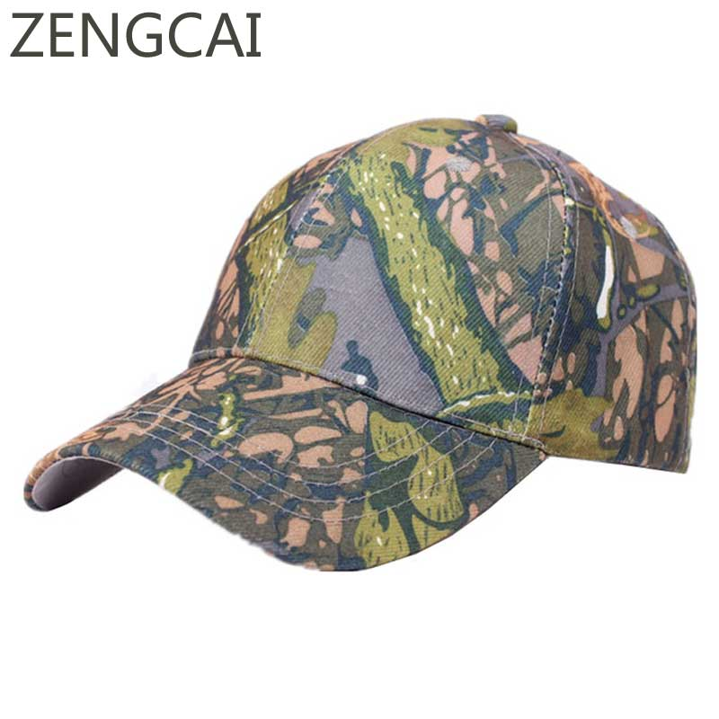 Army Camouflage Hunting Camping Fishing Caps Baseball Cap For Women Men  Snapback Hats Outdoor Sport Adjustable Cotton Sun Hat 6bb67b42c14