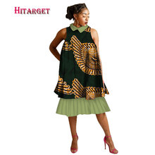 Autumn  african dress for women Fashion Dashiki Dress Women Sleeveless Ashiki Cotton African Print Clothing WY3111