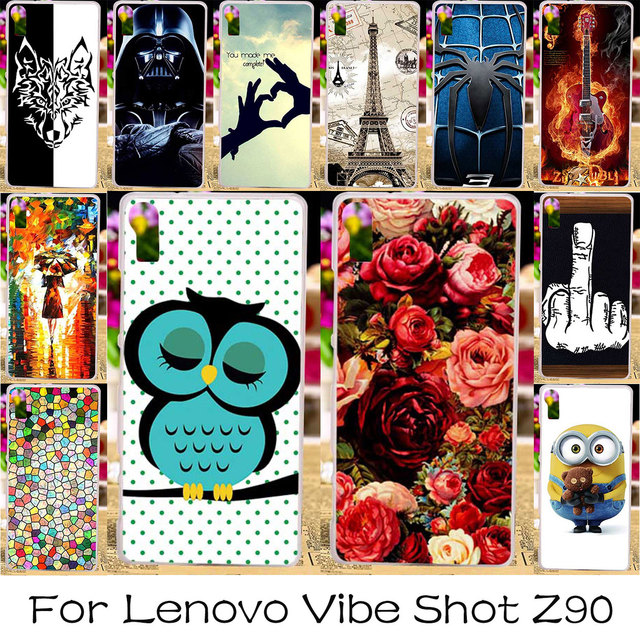 TAOYUNXI DIY Silicone Plastic Case For Lenovo Vibe Shot Z90 Z90-7 Z90a40 Z90-3 Vibe Max  Phone Case Cover Housing Skin Bag