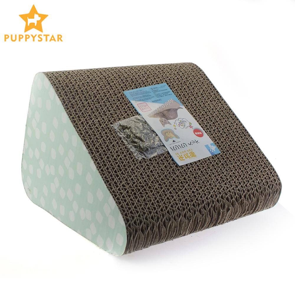 Corrugated Paper Catnip Cat Scratcher Scratch Pad Kittens Scratch Board Pet Scratching Mat Cat Scratching Products Cats Ly0013