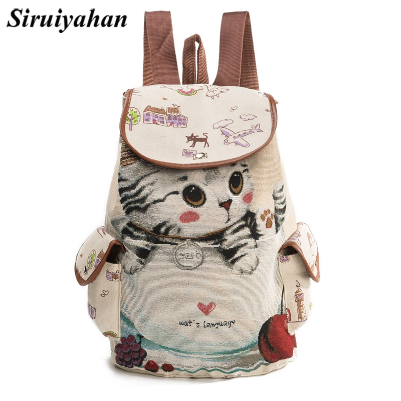 Vintage Embroidery Ethnic Canvas Backpack Handmade Flower Embroidered Travel Bags Schoolbag Backpacks Rucksack Mochila Sac
