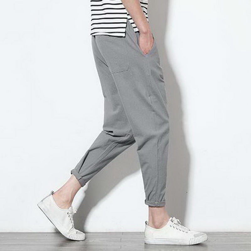 NIBESSER Men Summer Casual Harem Linen Pants 2018 Harajuku Jogger Pants Men Fitness Trousers Male Chinese Style Clothe Plus size
