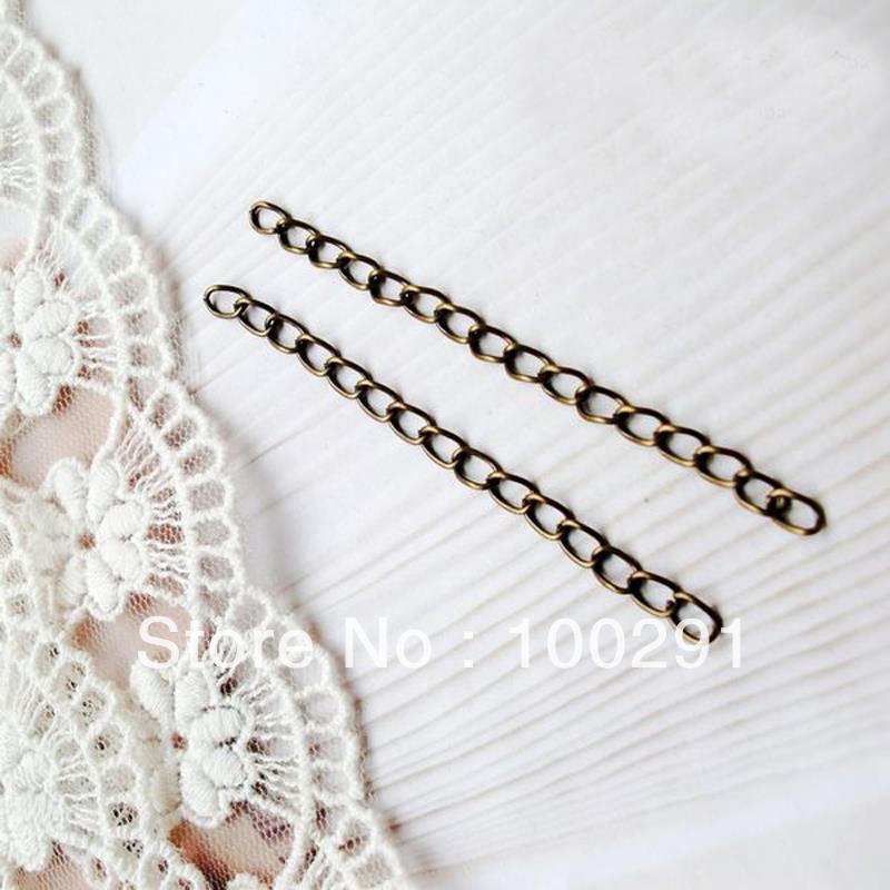 Livraison gratuite!!! 1000 Pcs/lot 6.5*0.3 cm Antque Bronze collier Bracelet fin connecteur lien Extender chaîne-in Bijoux et composants from Bijoux et Accessoires    2