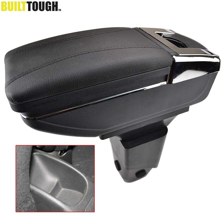 Auto Armsteun Voor Peugeot 206 206 + 207 Compact 2009-2012 Centre Arm Rest Pu Leather Center Console Opslag box Tray Bekerhouder