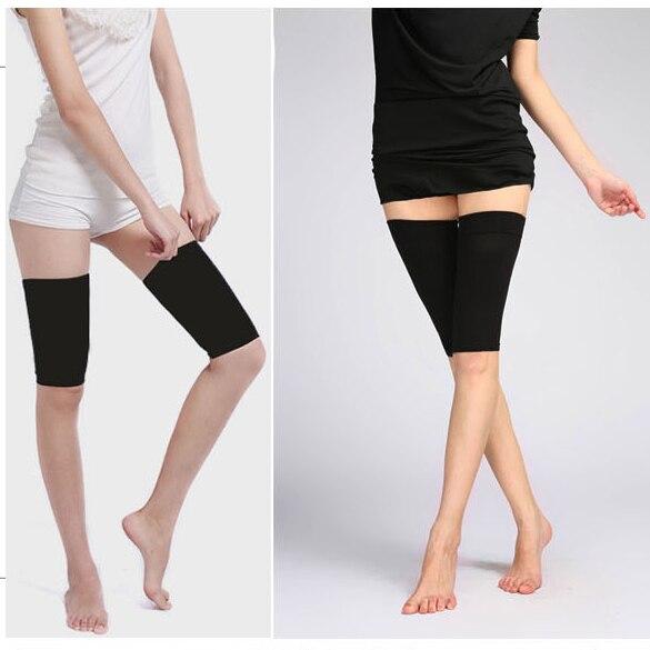 2017 Calorie Off Massager Slimming Thigh Leg Shaper Elastic Stretch Leg Socks Belt Black