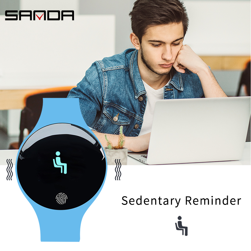 SANDA SD01 Fashion Smart Digital Wristwatch Men/Women/Children Touch Screen Distance Sleep Monitor Smartwatch For IOS Android 5