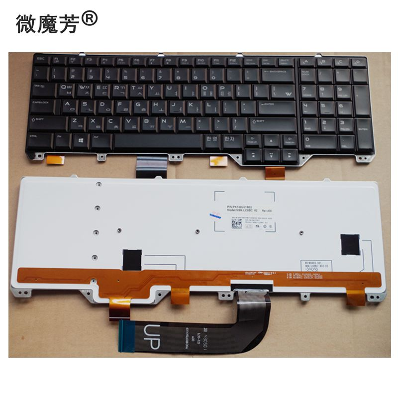 KR New Replace laptop keyboard For Dell Alienware M17X R5 M18 R3 backlight original for dell alienware m17xr5 m17x r5 latop motherboard cn 05rw0m 05rw0m vas00 02 la 9331p mainboard 100