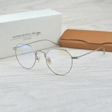 6ff4e094e6 Gafas de titanio puro gafas de marco completo marco óptico prescripción hombres  anteojos gafas de lectura miopía