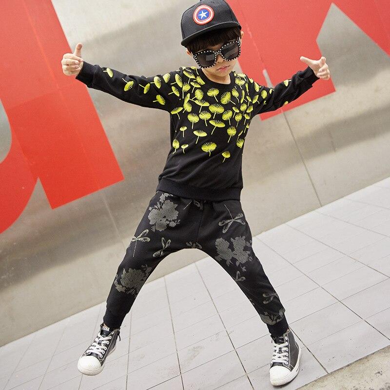 Costume de danse Jazz pour enfants vêtement de danse de rue garçon vêtement de danse hip-hop