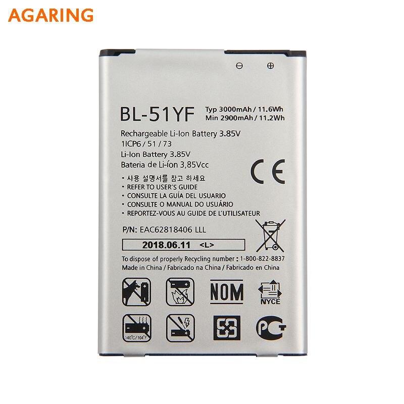 Agaring Original BL-51YF Battery For LG G4 H818 H810 VS999 F500 F500S F500K F500L Genuine Replacement Phone 3000mAh