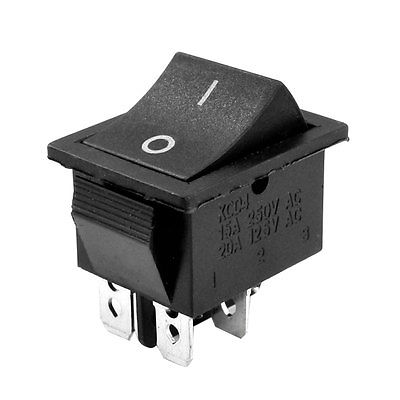 Plastic Shell 2 Position ON-OFF DPST 4 Pin Terminal Snap in Rocker Switch
