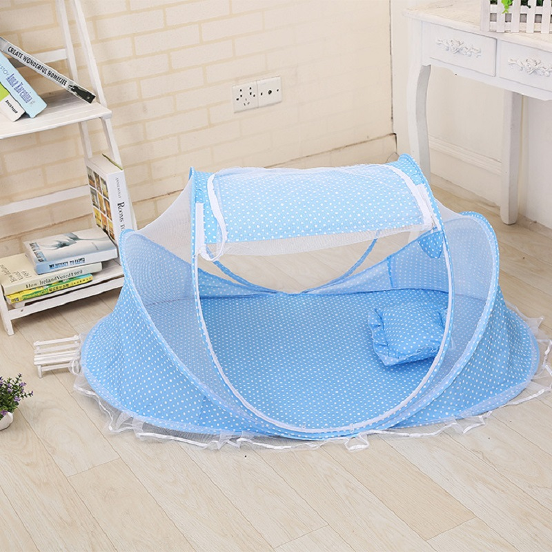 Hot Portable Baby Kids Bed Decorative Mosquito Net Baby Girl Folding - Tekstil rumah - Foto 3