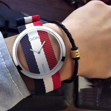 DOM Women Top Luxury Wrist Watch European American Hollow Out Relojes Mujer Weaving Cloth Watches Relogio Masculino feminino