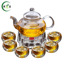 FREE SHIPPING Tea Pot Glassware 600ml Pot And 4 50ML Glasses