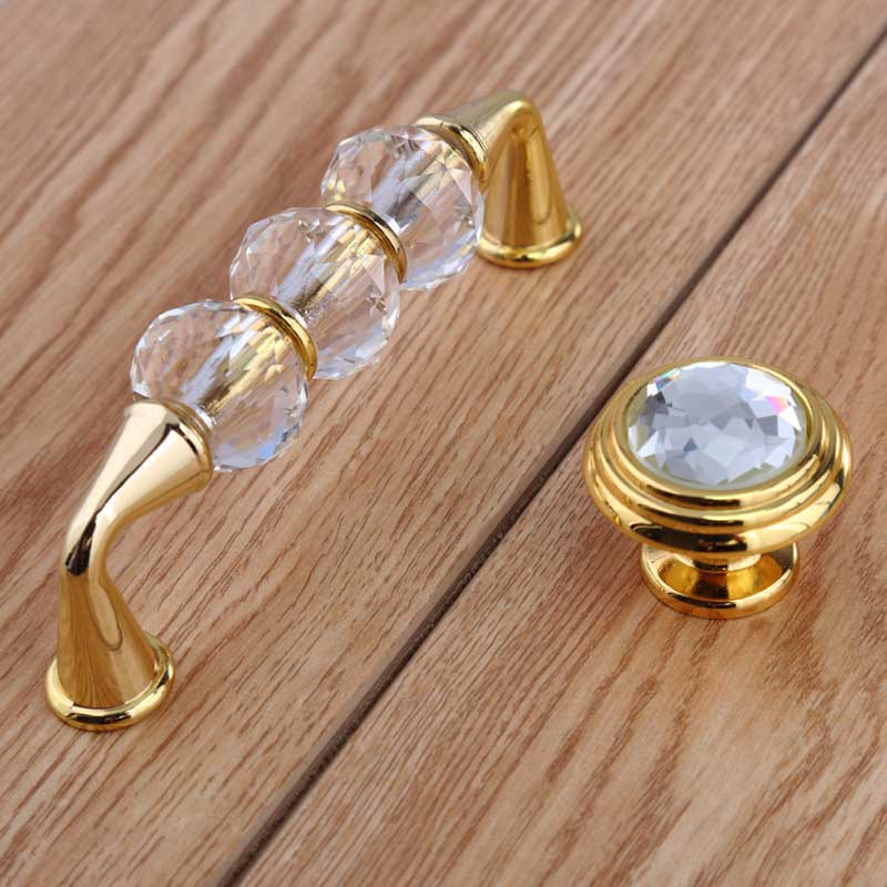 96mm fashion deluxe glass crystal win cabinet dresser door handles silver golden drawer knobs pulls 3.75 glass diamond handles цена