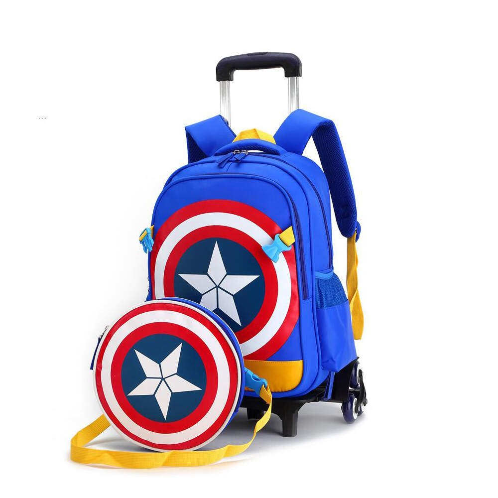 Whether you're lugging books home at the end of the school day or using them as luggage for travel, backpacks with wheels can save children from experiencing back stress and discomfort.