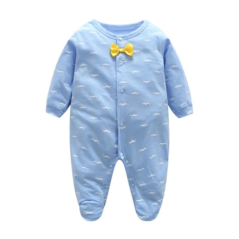 Fashion Spring Summer Casual Baby Girl Boy Romper Baby Polka Dot Cute O-neck Long Sleeve