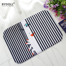 BYDOLL 1 Pieces Floor Mat Living Room 40x60cm Carpet Kitchen Non-slip Coral Fleece Bedroom Doormat Y048