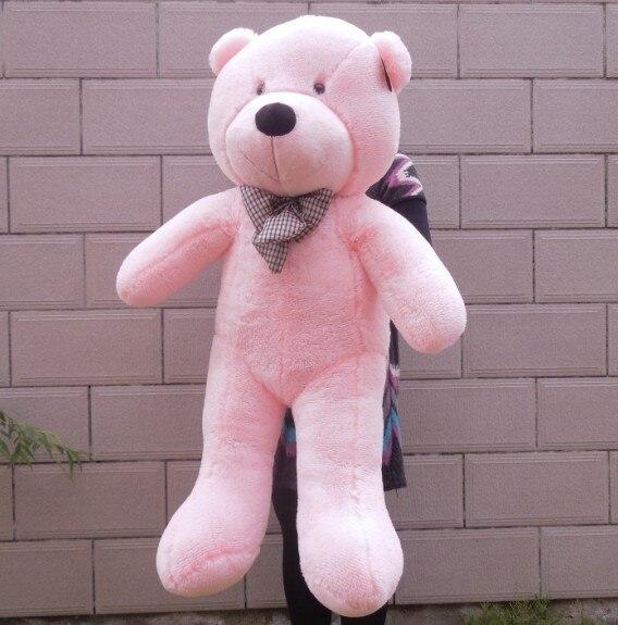 """4"""" белый/светло-коричневый/темно-коричневый/розовый цвет 1,2 м гигантский размер готовая мягкая плюшевая кукла плюшевый мишка игрушечный медведь подарок - Высота: 120cm pink color"""