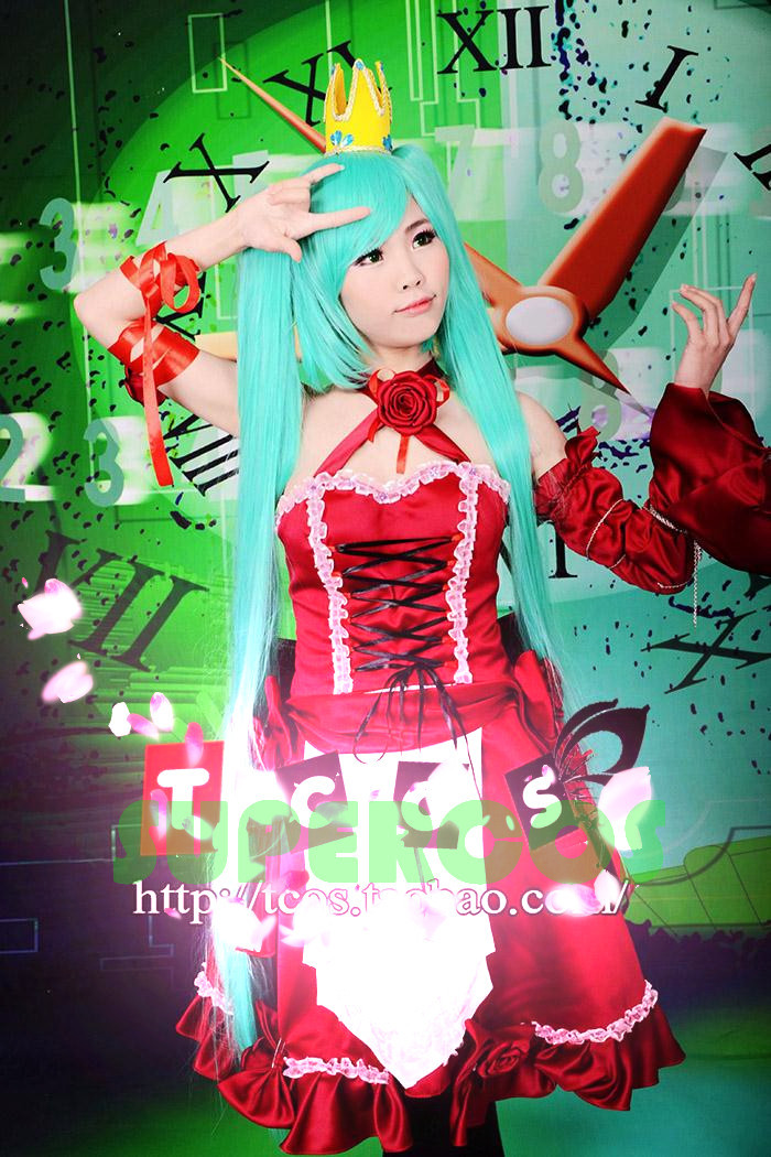 Free shipping! High Quality! Vocaloid Hatsune Miku Romeo And Cinderella Dress Cosplay Costume ,Perfect Customized For you!