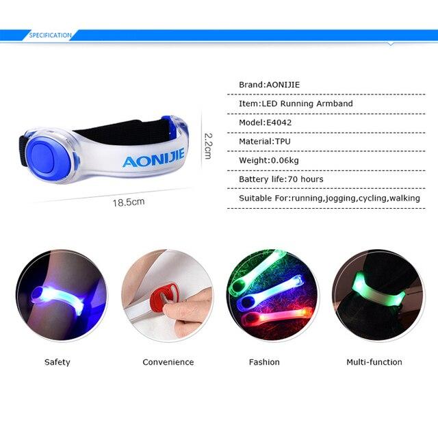 AONIJIE E4042 Night Running LED Lamp Armband Reflective Bracelet 1