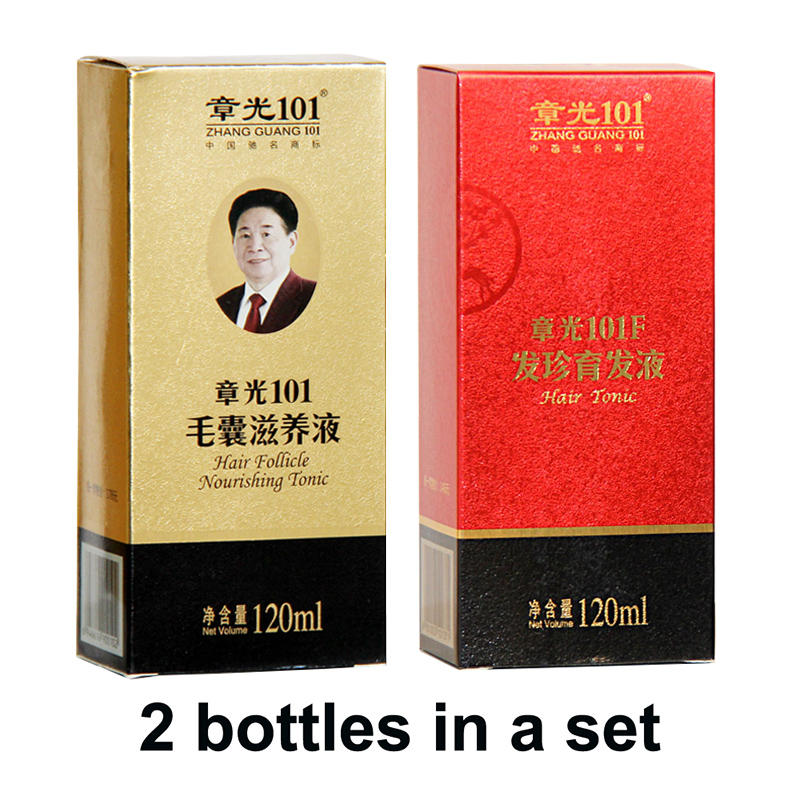 Zhangguang <font><b>101</b></font> <font><b>Hair</b></font> Follicle Nourishing Tonic + 101F, 2 pieces in a lot Anti <font><b>hair</b></font> loss <font><b>Hair</b></font> Regrowth sets 100% original image