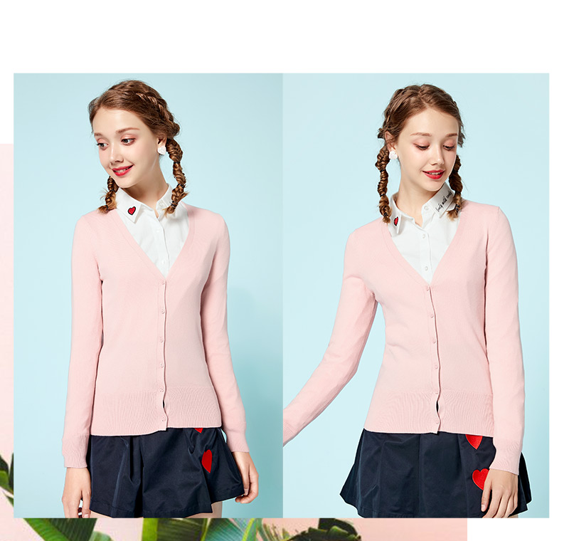 SEMIR Knitted Cardigan sweater Women 19 Spring Simple Solid Straight Bottom Clothing Sweater Fashion Cardigan for Female 11
