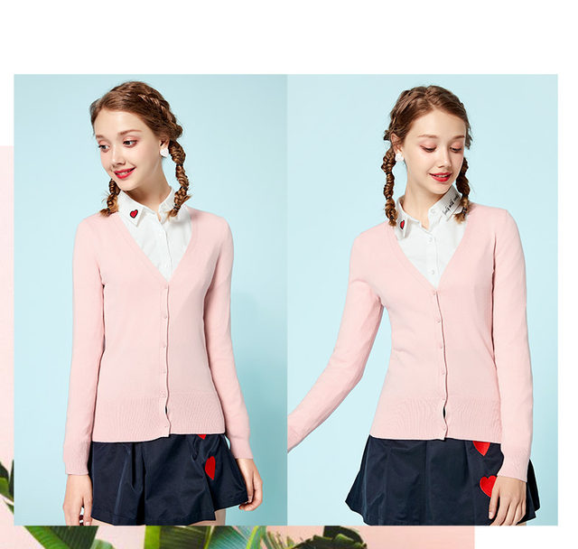 SEMIR Knitted Cardigan sweater Women 2019 Spring Simple Solid Straight Bottom Clothing Sweater Fashion Cardigan for Female 21
