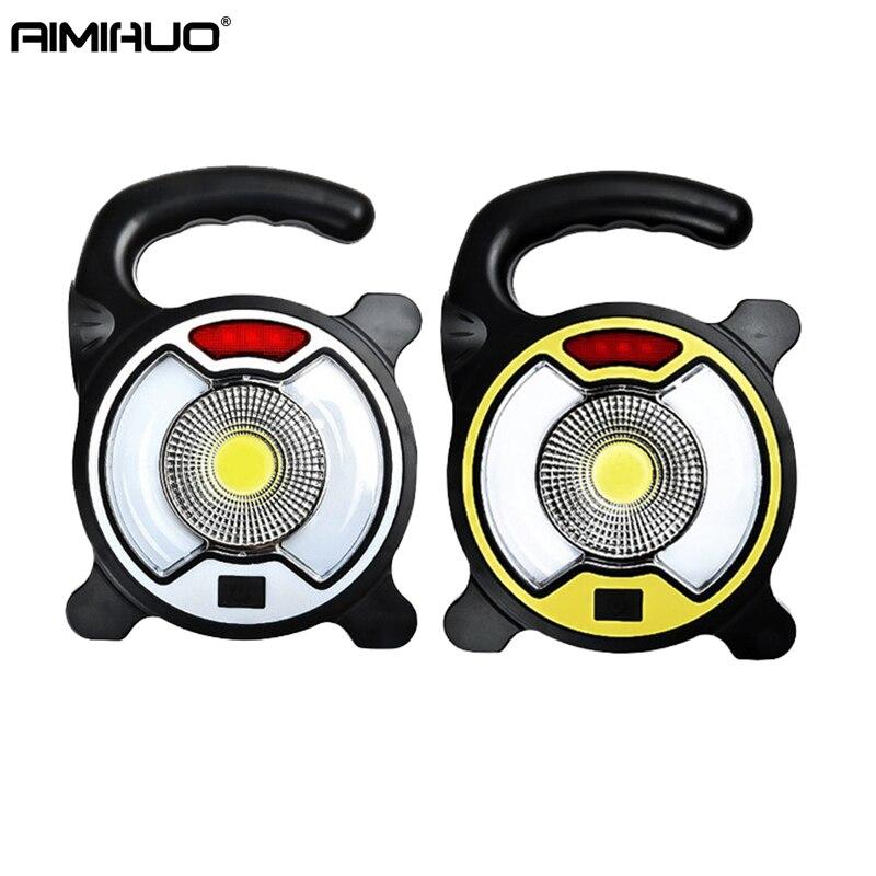 AIMIHUO LED Lampe COB camping en plein air lanterne USB portable lampe de Poche Double Ampoules lampe de Poche LED Lampe Multi-fonction lampe de Poche