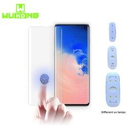Klej UV ochronne na ekran do Samsung S10 Plus S10e pełna klej w płynie szkło hartowane z UV światło dla Samsung uwaga 9 S8 S9 Plus