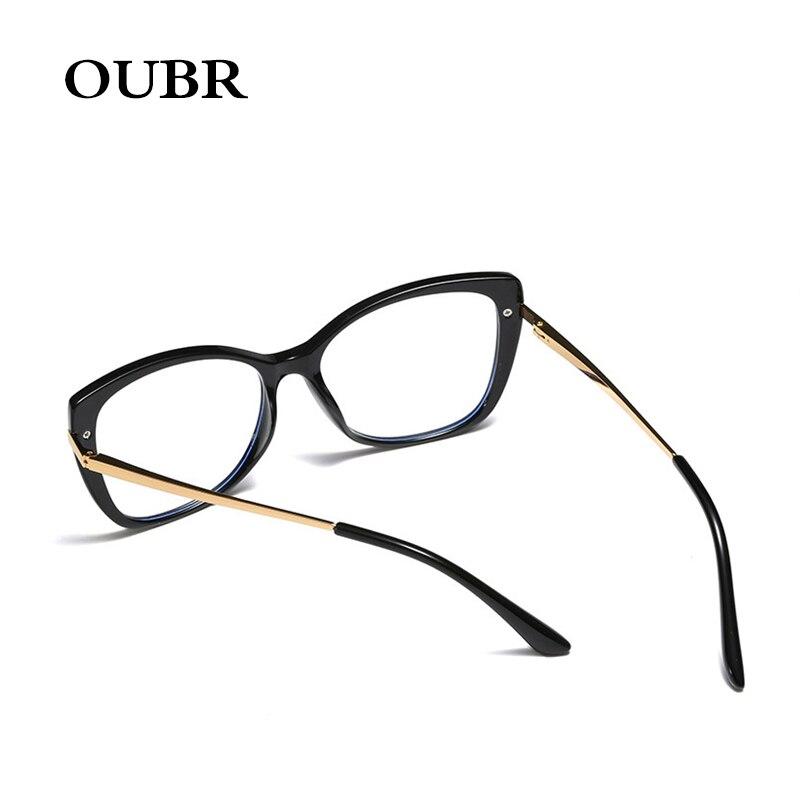 OUBR 2019 Trend brand designer anti blue glasses ladies computer optical glasses frame men 39 s simple light glasses frame in Men 39 s Eyewear Frames from Apparel Accessories
