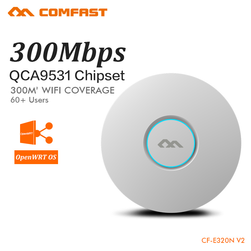 COMFAST 300Mbps Wireless Access Point Ceiling AP WIFI Router WIFI Repeater WIFI Extender High Power Support OpenWRT VLAN PoE comfast cf e325n ceiling ap 300mbps wifi router wireless repeater
